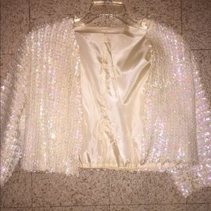 Jackets & Blazers - Sequined Cropped Jacket