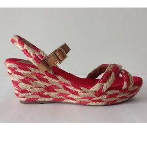 TORT BURCH CAMELIA WEDGE ANKLE STRAP ESPADRILLES