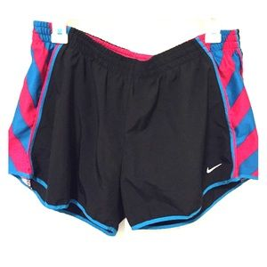 Nike Dri-Fit blue and pink shorts