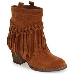 Shoes - Fringe Bootie