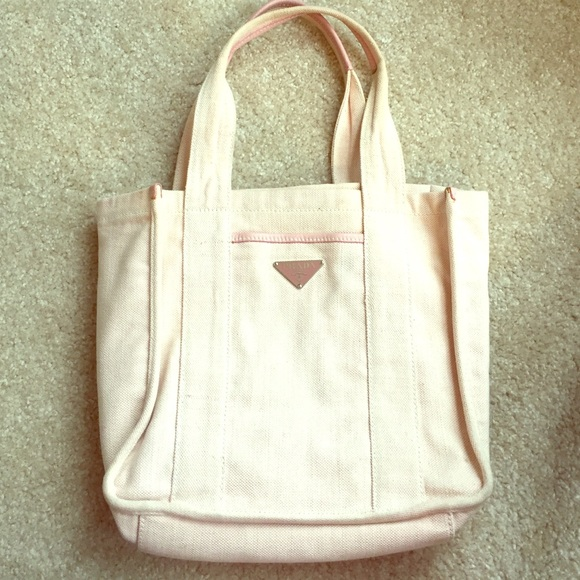 ... low price authentic prada pink canvas tote bag 511f1 8dba2 438808d235463