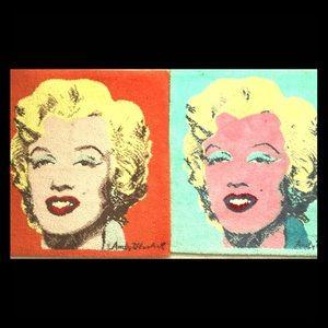 RARE Andy Warhol Monroe Rug