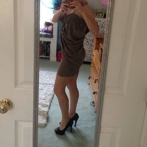 Sexy brown bow dress