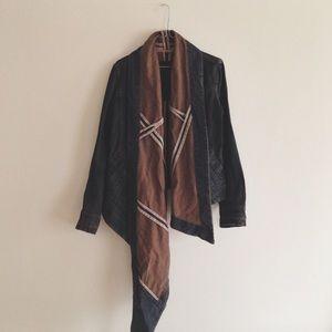 Rick Owens Jackets & Blazers - Rick Owens • asymmetrical waxed denim jacket