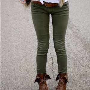 NWT Uniqlo Green Jeggings