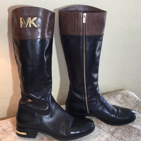 a98220ebb6c1 Michael Kors Brown   Black Tall Riding Boots. M 563d04cc6ba9e6a5b1009116