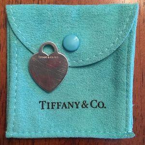 Tiffany & Co. sterling silver heart pendant