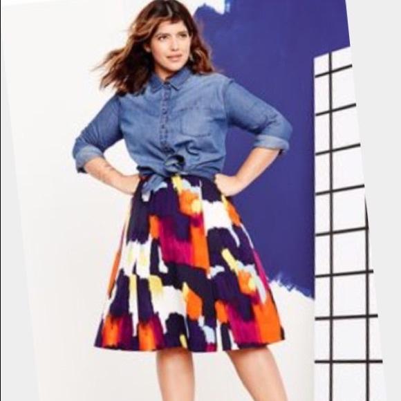 60% off Dresses & Skirts - Colorful midi skirt plus size 18/20 ...