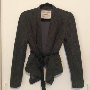 Anthropologie green cotton blazer!