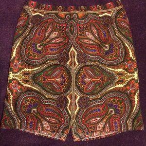 Vintage Paisley 70s Skirt