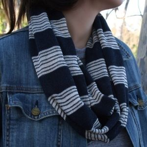 Nautical Stripe Infinity Scarf