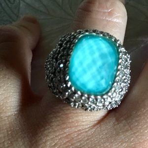 Judith Ripka Jewelry - Judith Ripka Aqua faceted ring in sterling silver