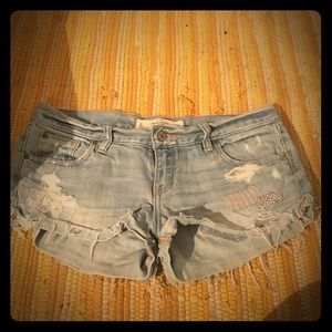 Abercrombie and Fitch cuffed cut off shorts