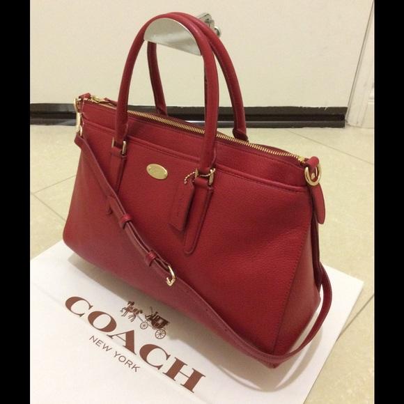 Coach - New Coach Pebble Leather Morgan Satchel CrossBody from ...