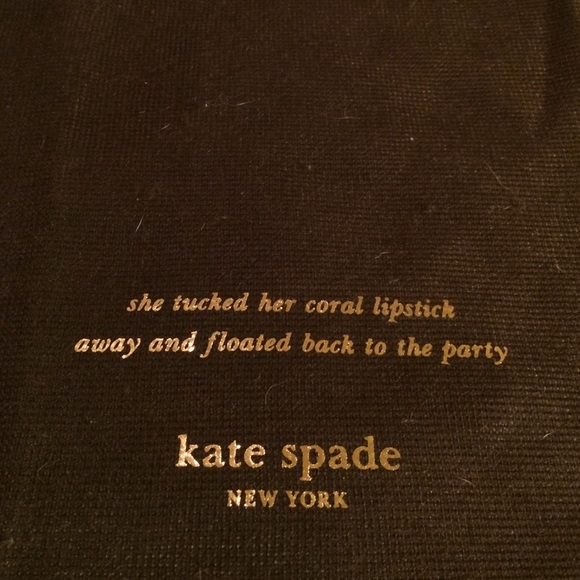 Kate Spade Quotes New Kate Spade  Kate Spade Drawstring Travel Bag Wadorable Quote