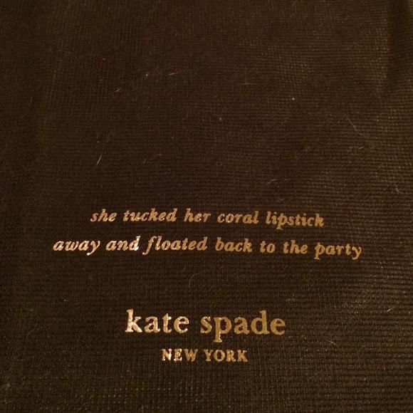 Kate Spade Bags Drawstring Travel Bag Wadorable Quote Poshmark Fascinating Kate Spade Quotes
