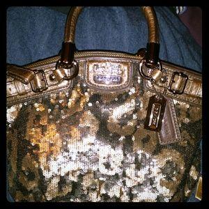 Sequins cheetah purse