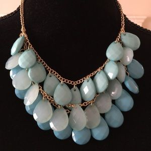 Beautiful three tone blue necklace