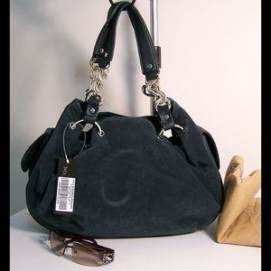 Handbags - New Faux Suede and Leather Bag - Closeout Sale