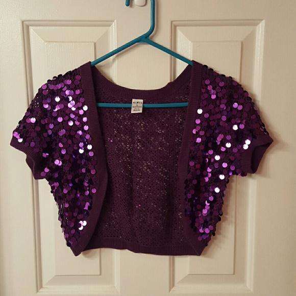 Mixit - Purple Sequin Cardigan from Ashley's closet on Poshmark