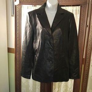 siena Jackets & Blazers - Siena black leather blazer