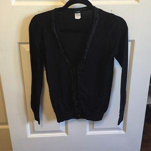 J. Crew Black cardigan sweater