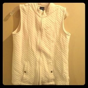 Super Cute Quilted Cream Cotton Vest Gold