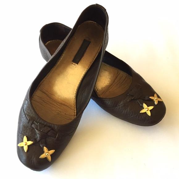 1cd97bff965a Louis Vuitton Shoes - Louis Vuitton Logo Monogram Ballerina Ballet Flats