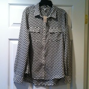 collared chevron shirt