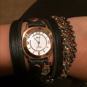 LaMer Collections Layered Crystal wrap watch