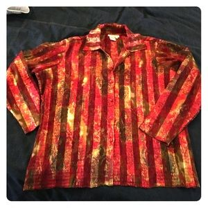 Coldwater Creek Crinkle Blouse