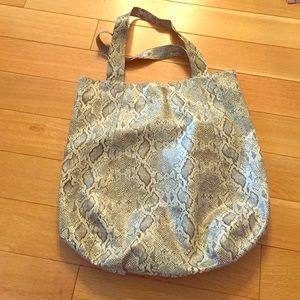 Large faux snake skin bag