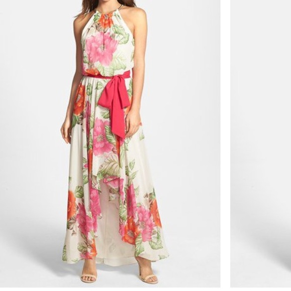 Eliza J Dresses | Nordstrom Cutaway Floral Highlow Dress | Poshmark