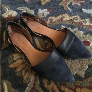 Madewell D'Orsay Flats in Blue Suede