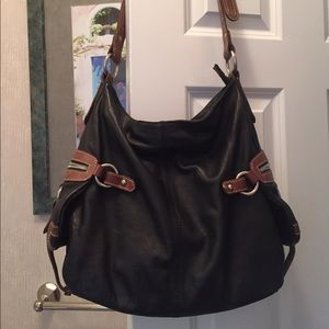 Handbags - Long strap bag all leather
