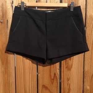 Literature Noir Mens THE LONG SHORTS with Leather Trim Short
