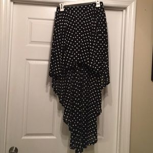 Forever 21 Dresses & Skirts - Polka Dot High Low Skirt!