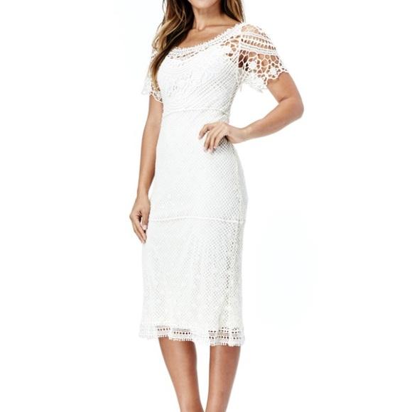 Crochet Ivory Dress