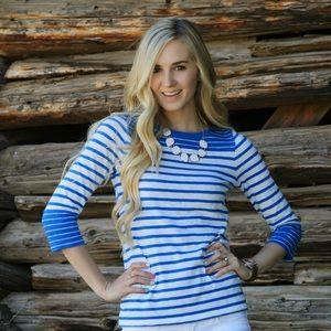 one day sale ❤️ cobalt blue stripe top