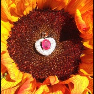 🌻New Listing🌻 Radiant Ruby Heart Pendant