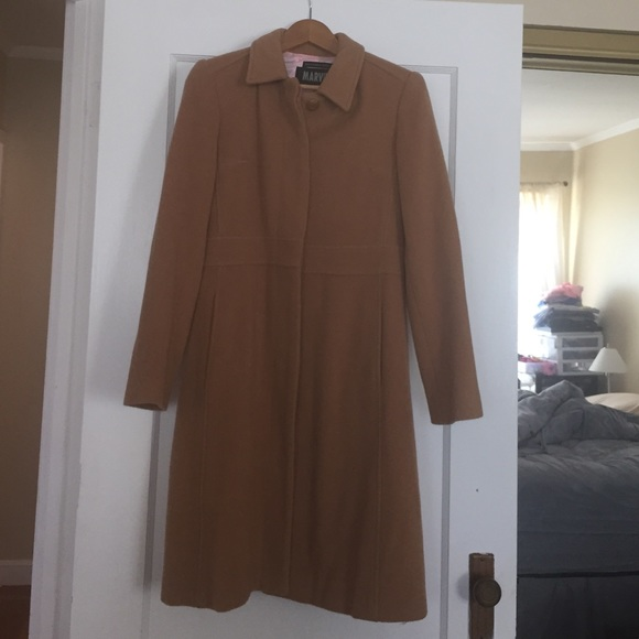 cheaper new arrival closer at Marvin Richards knee length tan wool coat