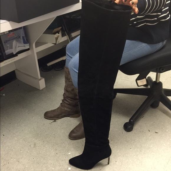 balmain balmain thigh high boots from s closet