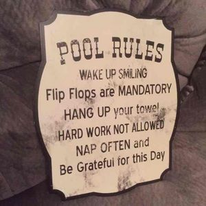 New Pool Rule sign