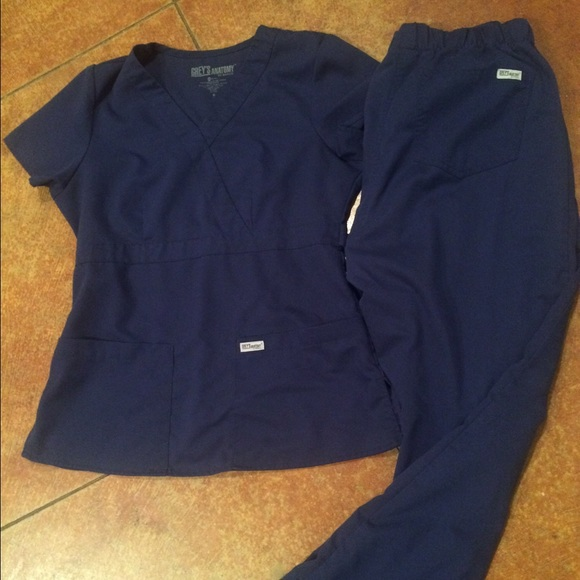 Grey\'s Anatomy Other | Navy Blue Greys Anatomy Scrubs | Poshmark