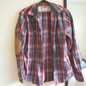 58 Off Mossimo Supply Co Tops Pink Flannel Button