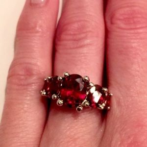 Jewelry - ✨ANNUAL SALE✨NWOT .925 Ruby Red Stone Ring