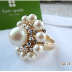 Kate Spade 'Park Avenue Pearls' Faux Pearl Ring