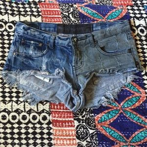 One Teaspoon Bonita Denim Cut Offs