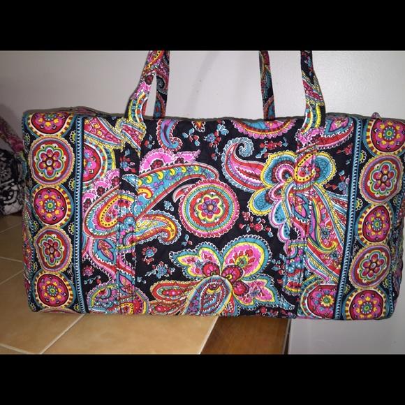 NWT Vera Bradley LG duffel bag Parisian Paisley 🌟 f52562056964b