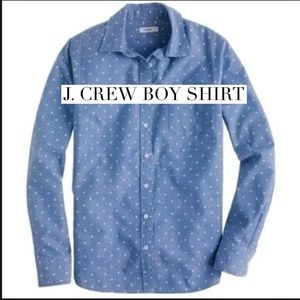 J. Crew Tops - Awesome JCrew polka dot button down